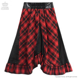 Corset Style Change Lace Up Skirt - Red Check