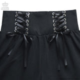 Lace Up Shorts - Black