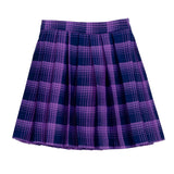 Tulle Layered Pleated Skirt - Purple