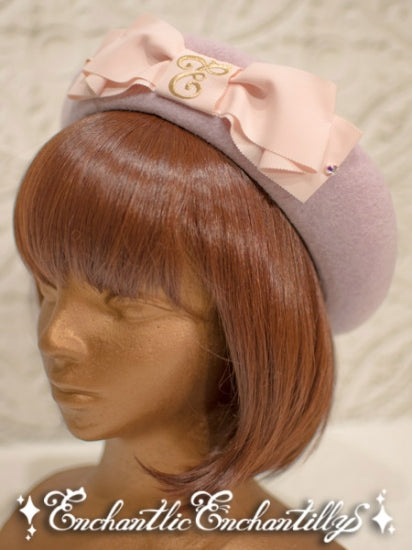 Cat Ears Wool Beret - Pink