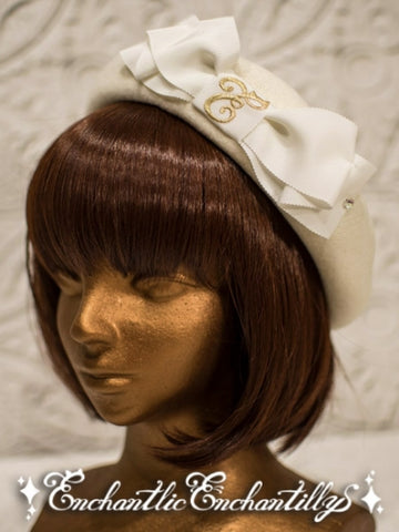 Cat Ears Wool Beret - Off White