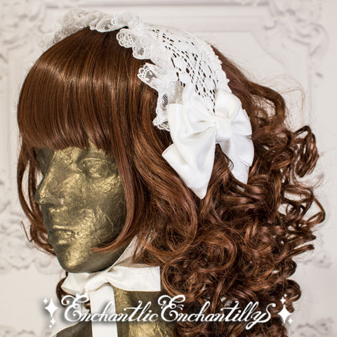 Dolly Lace Head Dress - Off White