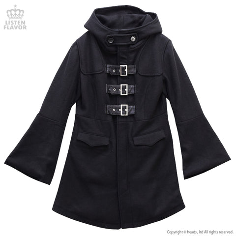 Magic Robe Triple Belt Coat – Black
