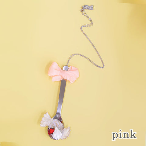 Delicious Spoon Necklace - Pink