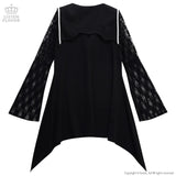 Gothic Cross Sailor Long Sleeve - Black