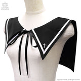 Gothic Sailor Collar - Black