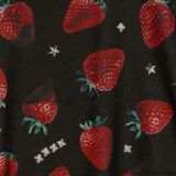 Strawberry Chocolate Pattern Zip Hoodie