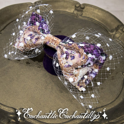 The Crown Of The Violet Princess Tulle Ribbon Brooch