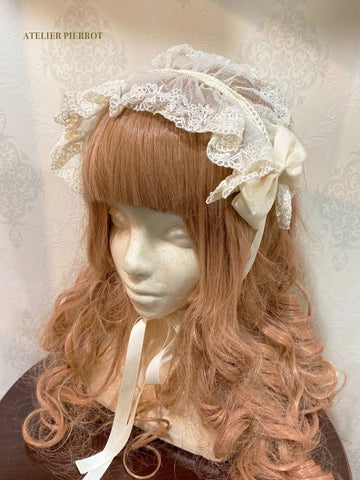 Lace Headdress - Ivory