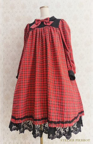 Amabile Dress Check -  Red