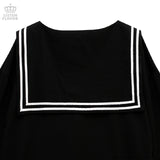 Teddy My Love Sailor Dress - Black
