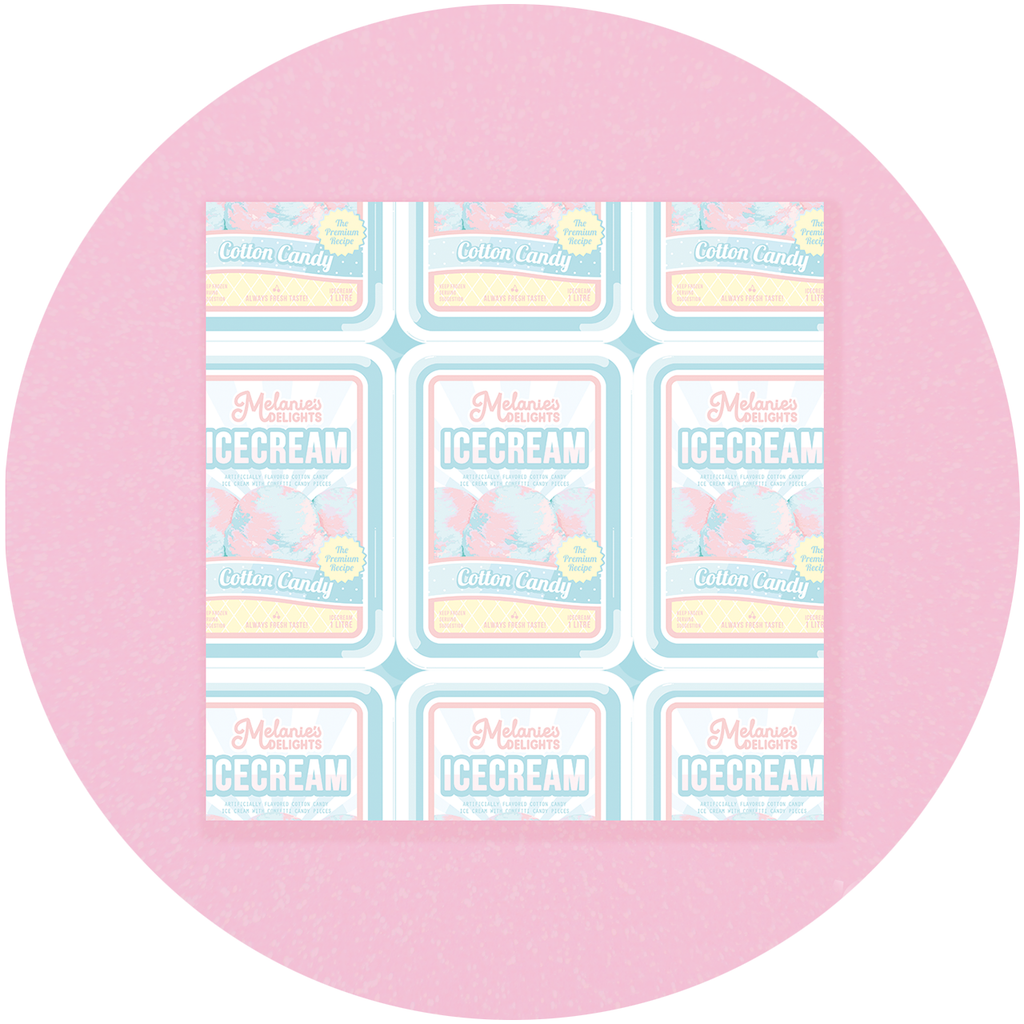 Cotton Candy Ice Cream Square Memo