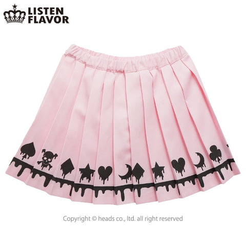 Melting Trump Pleated Skirt – Baby Pink