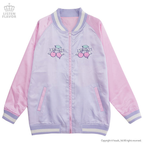 Cherry Angel Letterman's Jacket - Lavender