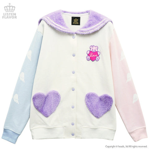 Fluffy Bear, Angel Heart Sailor Jacket - Vanilla