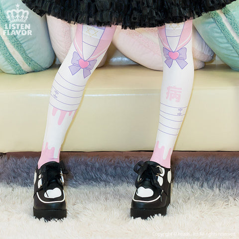 Menhera Chan Sailor High Socks – Pink
