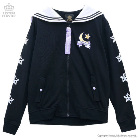 Moon Sailor Hoodie - Black