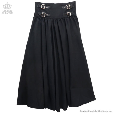Belted Maxi Skirt - Black