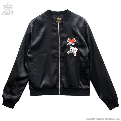 Trump Heart Satin Jacket - Black