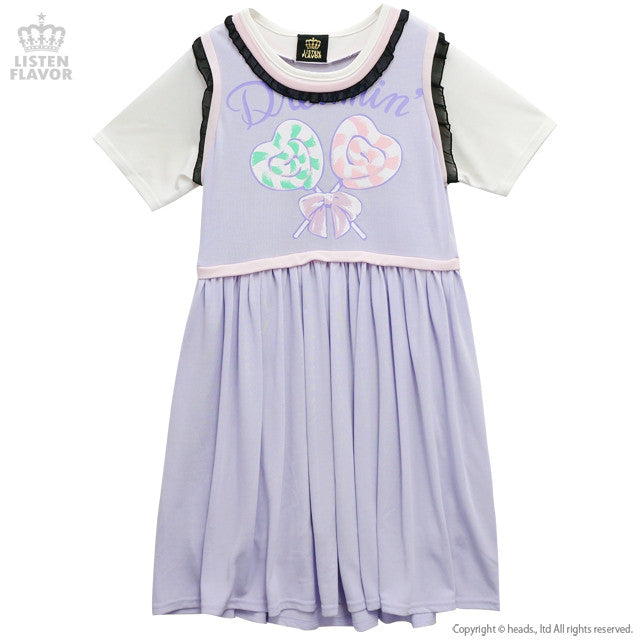 Lollipop Layered Dress - Lavender