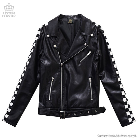 Checkerline Sleeve Riders Jacket - Black