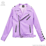 Checkerline Sleeve Riders Jacket - Lavender