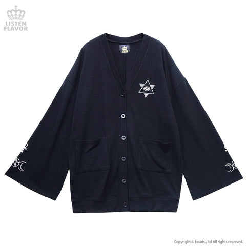 Occult Wide Sleeve Cardigan - Black
