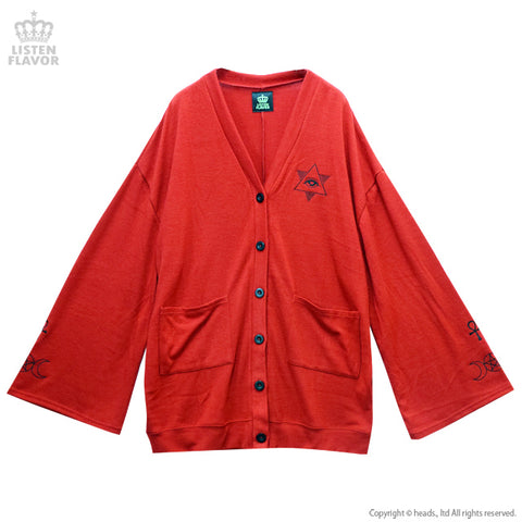 Occult Wide Sleeve Cardigan - Red