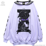 Moon Tarot Sailor Dress - Lavender