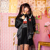 Guilty Heart Sailor Zip Jacket - Black