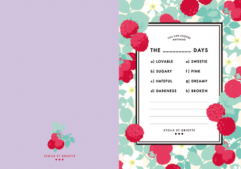 Cherry Days Note Pad