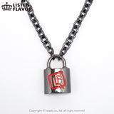 Listen Flavor Padlock Necklace - Gun Metal