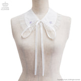 Star Embroidered Collar - White