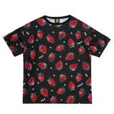 Strawberry Chocolate Pattern Shirt - Black