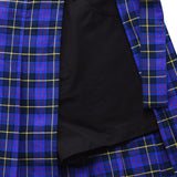 Layered Pleated Skirt  - Blue Check