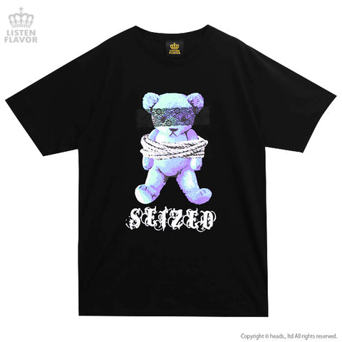 Captive Bear BIG T-Shirt - Black x Blue