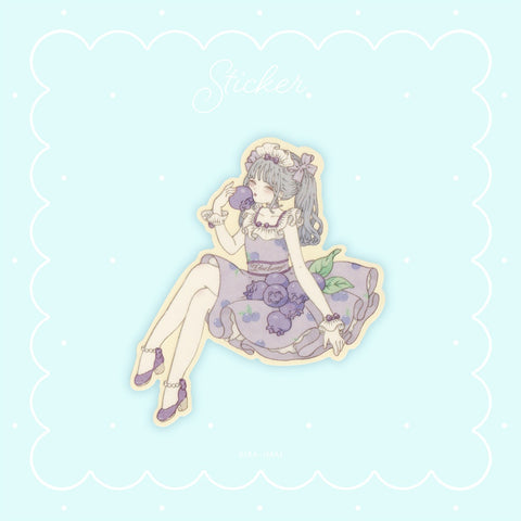 Blueberry Girl - Sticker