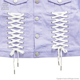 Angel Heart Lace Up Jacket - Lavender