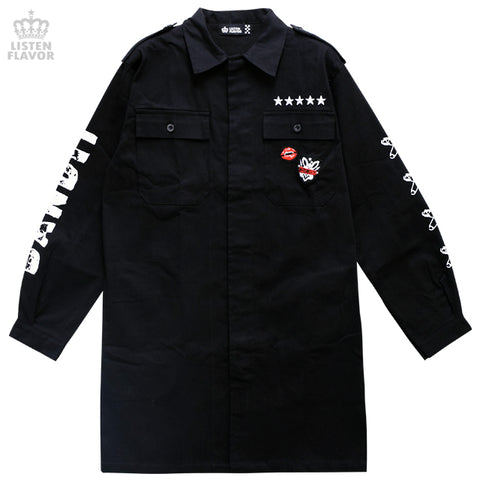 Anarchy Military Jacket - Black