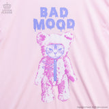 Grumpy Cat Bear Sleeved Ruffle Dress - Pink