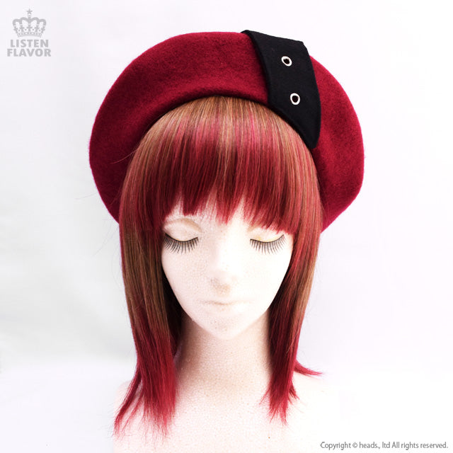 Beret with Belt - RED