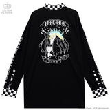 The Fallen Unicorn with Long Collar Cutsew - Black x White