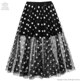 Star Tulle Layered Skirt - Black