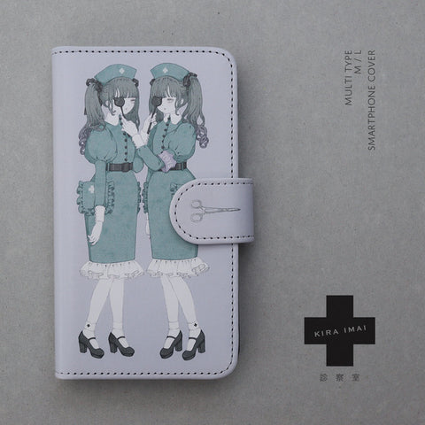 Notebook Type Smartphone Cover - Examination Room