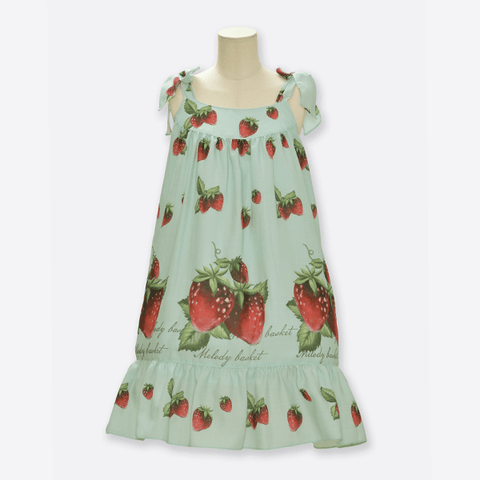 Natural Strawberry Ribbon Jumperskirt - Mint