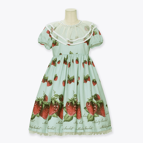 Natural Strawberry One Piece - Mint