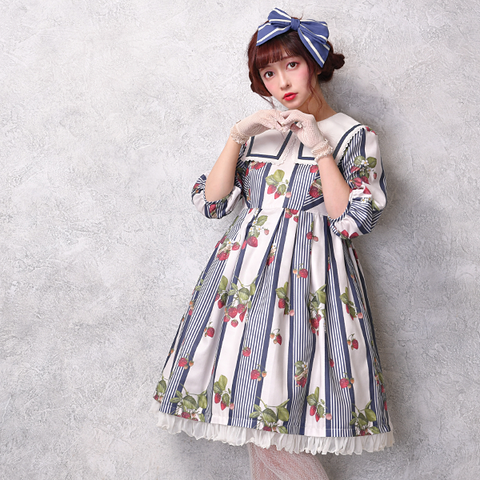 *PRE-ORDER* Stripe Strawberry Dress