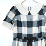 Melody Block Check Dress
