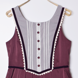 Serenade Jumper Dress - Bordeaux