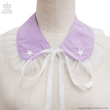 Star Embroidered Collar - Lavender